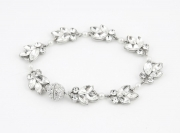 P950B_Silver Crystal and Pearl Bridal Bracelet Richard Designs