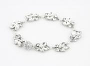 P950B_Silver Crystal and Pearl Bridal Bracelet Richard Designs
